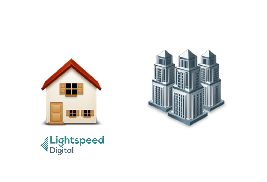 Lightspeed gives your website a home, not a tiny apartment
