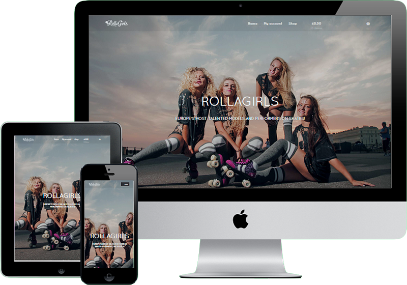 Rollagirls Site Apple Device Mockup